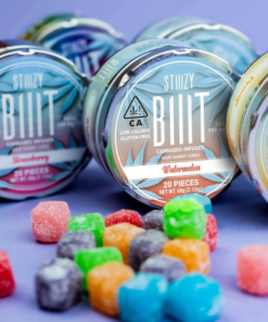STIIIZY BIIIT Watermelon Sour Gummy Cubes